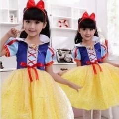 【在庫処分】ハロウィン コスプレ衣装子供 女の子白雪姫風 コスチューム  仮装子供ドレス ハロウィンクリスマス
