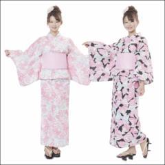 送料無料★リボンリボンマイメロディ浴衣 SAN-834 ピンク/ブラック■ 浴衣 結び帯 浴衣セット ゆかた