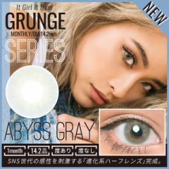 ☆NEW<GRUNGE SERIES>-ABYSS GRAY- 14.2mm teamo グランジ アビス グレー 1ヶ月 マンスリー カラコン