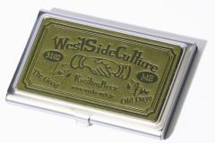 名刺入れ 日本製 メンズ 本革 栃木レザー ブランド アルミケース レディース カードケース グリーン 緑色  春 即納