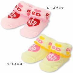 2/19一部再販 NEW ベビーソックス/ハート-雑貨 靴下 レッグウェア ベビーサイズ 新生児 ベビードール 子供服-8180