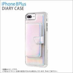 iPhone 8Plus/ iPhone 7Plus ハードケース CM036206【5784】カード収納付き 鏡 ミラー  虹 がうがうインターナショナル