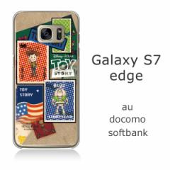 Galaxy S7 edge (SC-02H/SCV33) クリアケース 【Disney/ディズニー】 「TOYSTORY/トイストーリー(stamp)」 バズ/ウッディ