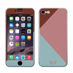 iPhone8 iPhone7 兼用 Gizmobies(ギズモビーズ)xSLY(スライ) 「カラートライアングル/PINK」 保護シール カバー