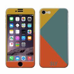 iPhone8 iPhone7 兼用 Gizmobies(ギズモビーズ)xSLY(スライ) 「カラートライアングル/EMERALD」 保護シール カバー