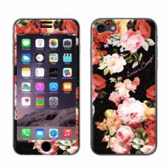iPhone8 iPhone7 対応【DRESSCAMP(ドレスキャンプ)xGizmobies】 「BLACK BOUQUET」 プロテクター カバー ラメ 花柄