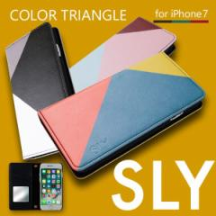 iPhone8 iPhone7 iPhone6s/6 対応 SLY(スライ) 「COLOR TRIANGLE (3color)」 手帳型ケース ブランド