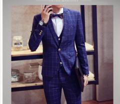 2017新品/超人気スーツ/メンズ3点セットスーツ/ジャケット+パンツ+ベスト/フォマール/通勤/結婚式/上下セットフォーマルスーツ