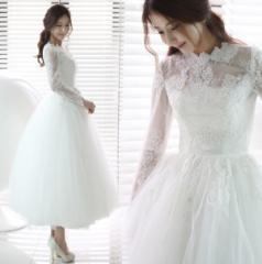 ウエディングドレス ウェディングドレスドレス 二次会 花嫁 花嫁ドレス 結婚式 長袖 結婚式・二次会 嬢ドレス