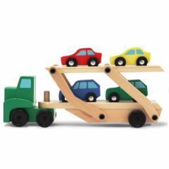 木のおもちゃ 知育玩具 車のおもちゃ Melissa&Doug(メリッサ・ダグ)キャリアカー MD4096