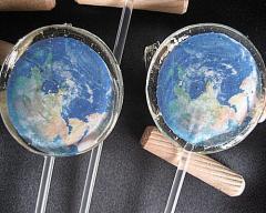 アースキャンデイ(地球、土星、月) 画像まるごと、ぜんぶ、たべれちゃいます