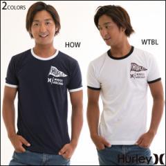 Hurley ハーレー Tシャツ メンズ 半袖 コットン トップス リンガーtee プレミアムフィット PENNANT RINGER ペナントロゴ
