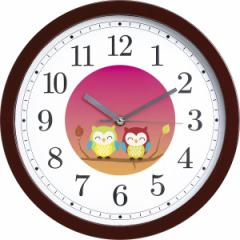 【送料無料】幸せ夫婦ふくろう掛時計/お祝い人気品