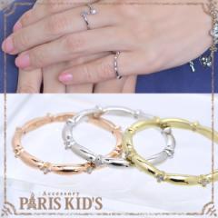【送料無料】シンプル キュービック ピンキー リング 指輪 ゆびわ 真鍮 ゴールド シルバー ピンクゴールド 4号 5号 10号 11号