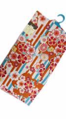 女子浴衣 日本製 7〜8歳 女子用 子供 浴衣 綿紅梅 白地 縞 八重桜 小菊 柄 no29528