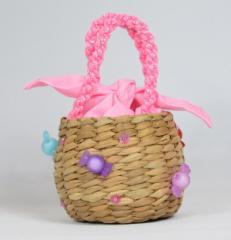 バンクアン かごバッグ  お子様用 ピンク