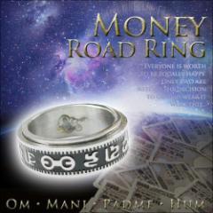 メール便OK!!仏陀とマントラの刻印パワーが幸せと導く⇒ユニセックス至極の金運アイテム↑【マネーロードリング -Money Road Ring-】