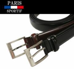 送料無料 ベルト 1ピン バックルファッションベルト 2色 (ES-1) (PARIS SPORTIF) レザー メンズ ビジネス