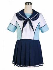 ラブプラス 十羽野高校女子制服,夏服,高嶺 愛花,リンコ,寧々   風 コスプレ衣装 完全オーダーメイドも対応可能