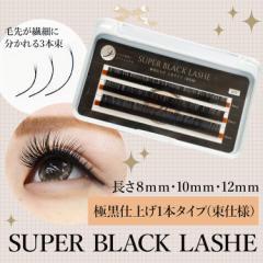 まつげエクステ SUPER BLACK LASHE Cカール 【まつげエクステ】【マツエク】【キット】【セット】