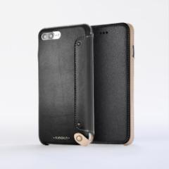 n.max.n Mystery Series iPhone8Plus , 7Plus対応本革縫製ケース 画面カバー(フラップ)有りタイプ 【AP-PH7P-7101】 ブラック