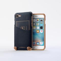 n.max.n New Minimalist Series iPhone8 , 7対応 本革縫製ケース 画面カバー(フラップ)無しタイプ 【AP-PHE7-7402】 ブルー