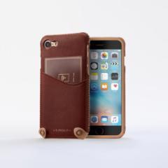 n.max.n New Minimalist Series iPhone8 , 7対応 本革縫製ケース 画面カバー(フラップ)無しタイプ 【AP-PHE7-7403】 ブラウン