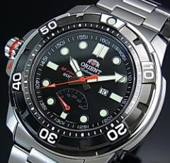 ORIENT オリエント エムフォース ダイバーズウォッチ メンズ腕時計 自動巻 ブラック文字盤 メタルベルト MADE IN JAPAN SEL06001B0