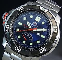 ORIENT オリエント エムフォース ダイバーズウォッチ メンズ腕時計 自動巻 ネイビー文字盤 メタルベルト MADE IN JAPAN SEL06001D0