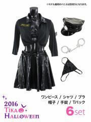 【Tika ティカ】6setセクシーポリスツーピースコスプレミニ大人用レディースかわいいイベント仮装衣装