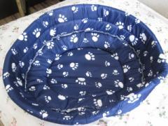 犬・猫ペット用★足跡柄ベッド