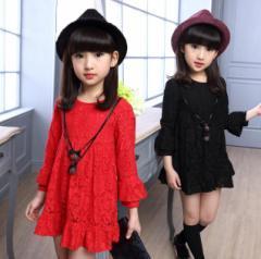 秋新作 長袖ワンピースキッズ服 子供服 女の子  子ども キッズ ベビー   100~150cm 超可愛い 厚手プリンセス