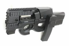 【特別セール】S&T P-90 Strike Head 電動ガン BK【180日間安心保証つき】(STAEG73GBK)