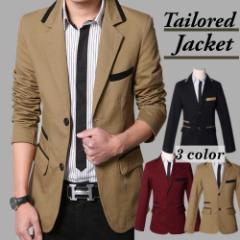 テーラードジャケット メンズ ジャケット メンズ ジャケット メンズファッション 長袖 ベージュ 黒 キレイめ タイト アウター