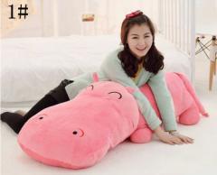 ぬいぐるみ カバ/河馬 5色 120cm 可愛いカバ抱き枕/クマ縫い包み/プレゼント/ふわふわぬいぐるみ