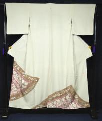 中古 名門 滝泰謹製 辻が花 1つ紋 高級色留袖 身丈156cm 裄丈64cm T734