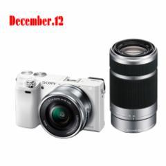 ソニー  デジタル一眼カメラ α6000 ILCE-6000Y(W) ダブルズームレンズキット