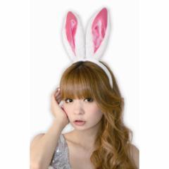 ■送料無料■ フワフワうさぎカチューシャ 色:白/ピンク サイズ:フリー■うさ耳・けも耳 【お取り寄せ】