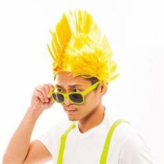 ■送料無料■ネオンモヒカンウィッグ(イエロー・ピンク・グリーン・オレンジ)パーティ☆仮装☆【 お取り寄せ】