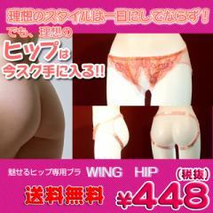 ■送料無料■即納!特価!在庫限り!■ 魅せるヒップ専用ブラ Wing Hip 色:ブラック サイズ:F