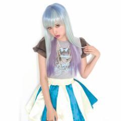 ■送料無料■ LLL ストレート ペガサス 色:ブルー(青)×パープル(紫)  ■Lunatic Lemony Lollipop■ロング ウィッグ【お取り寄せ】