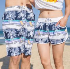 水着 メンズ 海パン 海水パンツ サーフ サーフパンツ サーフショーツ ペア カップル レディース ヤシの木
