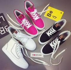 ハイカットスニーカー/レディース靴/シューズ/学生/レースアップ/ハイカット/ランニング/スポーツ靴/カジュアル/スニーカー/ズック靴