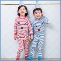 子供服 キッズ 子供 パジャマ 寝巻き 上下セット 長袖 部屋着 ルームウェア シンプル あったか kd1246