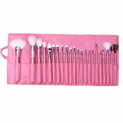 化粧ブラシセット メイクブラシセット 可愛いピンク専用収納ケース付き 22本セット