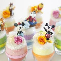 『ディズニー フラワーワールド』【プリザーブドフラワー Disney ミッキーマウス 誕生日  ギフト 敬老の日】【送料無料】