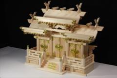 美しい、東濃桧■ 升組造り 屋根違い 大型 ■マス組付 ■神棚 (お社本体)高さ51cm×幅70cm×奥行き27cm