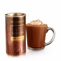 ゴディバ GODIVA ダークチョコレート ココア 10回分 キャニスター缶