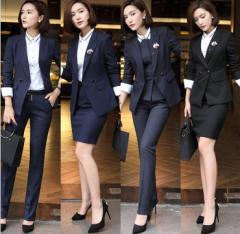 大きいサイズ パンツスーツ+長袖スーツ+ベスト セレモニー フォーマル OL通勤 オフィス リクルートスーツ 3点セット 面接
