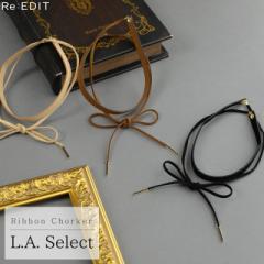フェイクスエードリボンチョーカー[L.A.セレクト][インポート]レディース[入荷済]